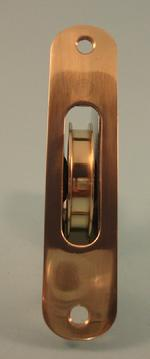 "THD240 2""Sash Pulley with brass wheel with a Radius Solid Brass Faceplate"
