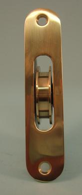 "THD270 Ball Bearing - Standard Case, 1.75"" Brass Wheel Pulley with a Radius Solid Brass Faceplate"