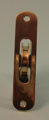"THD138 Ball Bearing - Standard Case, 2"" Brass Wheel Pulley with a Radius Solid Brass Faceplate"